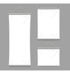 Textile Banners with Folds Set vector image
