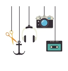elements style hipster icon vector image
