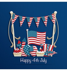 fourth of july decoration vector image vector image