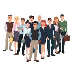 Group of men and women Business creative team vector image vector image