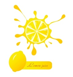 Lemon juice vector image vector image