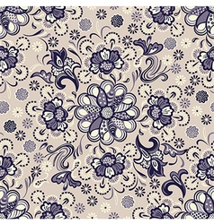 seamless floral pattern vintage vector image vector image