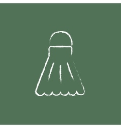 Shuttlecock icon drawn in chalk vector image vector image