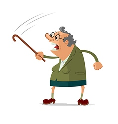 Angry old woman vector image vector image