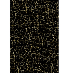 black texture with gold cracks vector image vector image