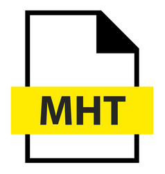 file name extension mht type vector image vector image