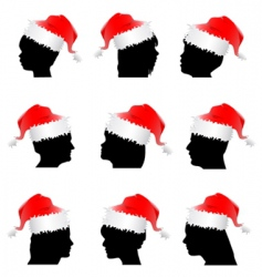 Santa Claus red hat vector image vector image