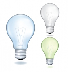 set of bulbs vector image vector image