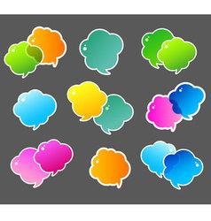 Speech bubble colorful vector image