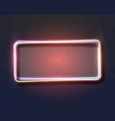 vintage neon frame neon sign icon vector image