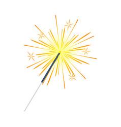 bengal light fire firework sparkler isolated vector image