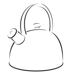 kettle symbol vector image vector image