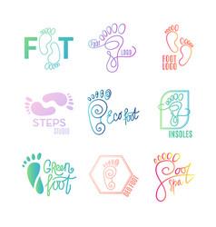 logo of center of healthy feet vector image vector image