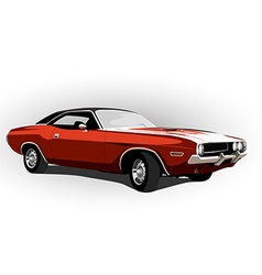 red classic muscle car vector image vector image