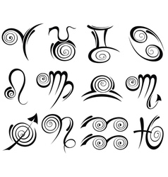 signs of the zodiac vector image vector image