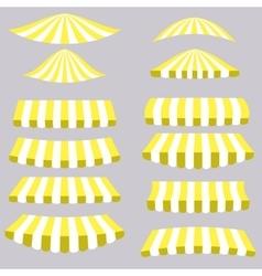 Yellow Tents vector image