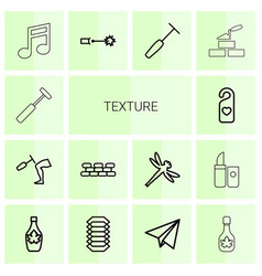 14 texture icons vector image