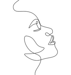 Abstract portrait young pretty woman vector
