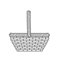 Basket empty object vector