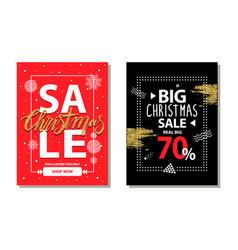 big christmas sale 70 on vector image