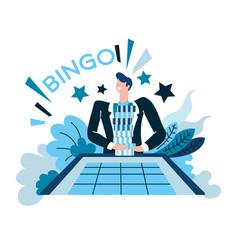 Bingo and win casino and gambling winner vector
