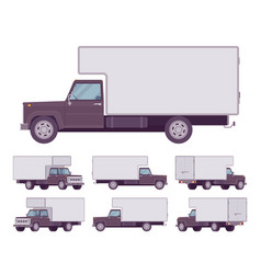 black truck set vector image