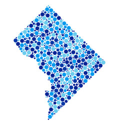 Blue dotted washington dc map composition vector