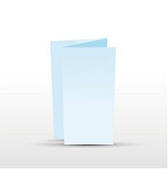 Blue trifold leaflet vector