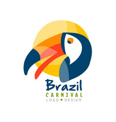 brazil carnival logo design bright festive party vector image