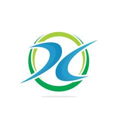 business finance logo image vector image