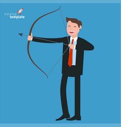 Businessman shooting arrow vector