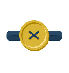 Button in buttonhole isolated accessories for vector