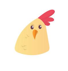 cartoon cute chicken icon vector image vector image