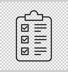 checklist clipboard sign icon in transparent vector image