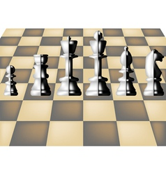Chess and chess board vector