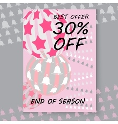 Christmas sale cards Includes balls vector image