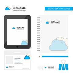 clouds business logo tab app diary pvc employee vector image