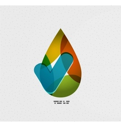 Colorful paper water drop vector image