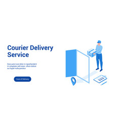 courier delivery 3d template 2 vector image