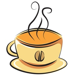 cup coffee doodle style vector image