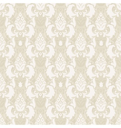 damask floral seamless pattern in beige vector image vector image