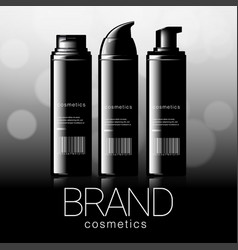 design of cosmetics advertising vector image