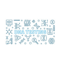 dna testing concept in thin vector image