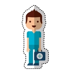 Doctor avatar character isolated icon vector