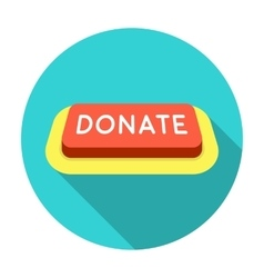Donate button icon in flat style isolated on white vector image