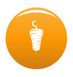 doner kebab icon orange vector image