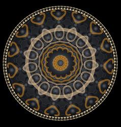 elegance ornamental round greek mandala pattern vector image