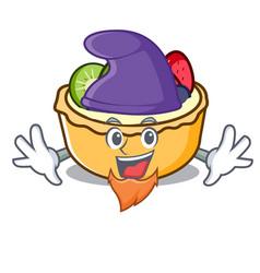 elf fruit tart character cartoon vector image
