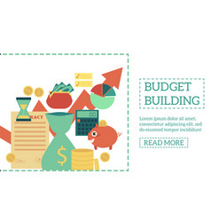 flat budget building poster vector image