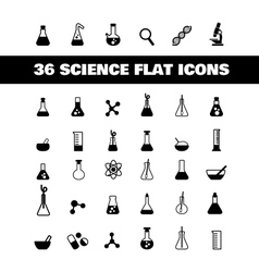 flat icon science vector image